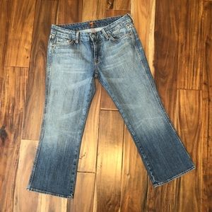 """7 For All Mankind Crop """"A"""" Pocket Jeans Size 30"""
